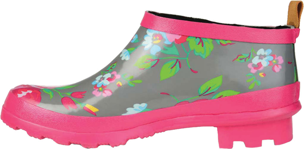 Women's Journee Collection Rainer Rain Boot, Grey Floral Rubber, large, image 3