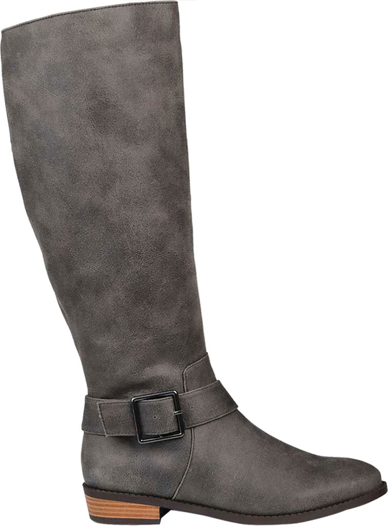 Women's Journee Collection Winona Wide Calf Knee High Boot, Grey Distressed Faux Suede, large, image 2