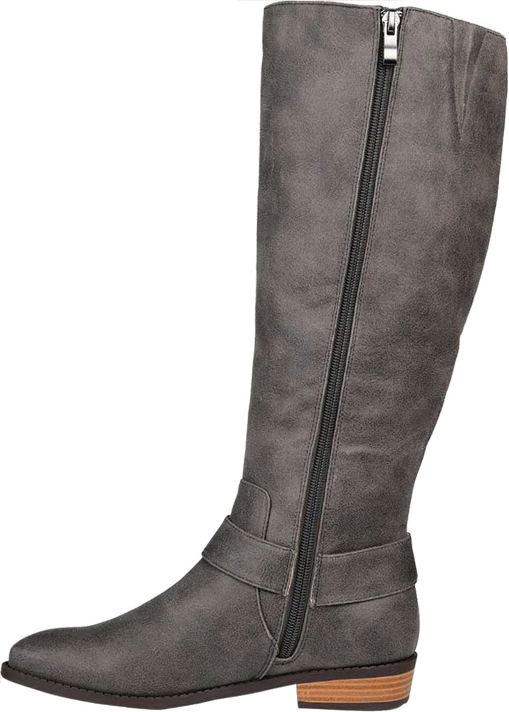 Women's Journee Collection Winona Wide Calf Knee High Boot, Grey Distressed Faux Suede, large, image 3
