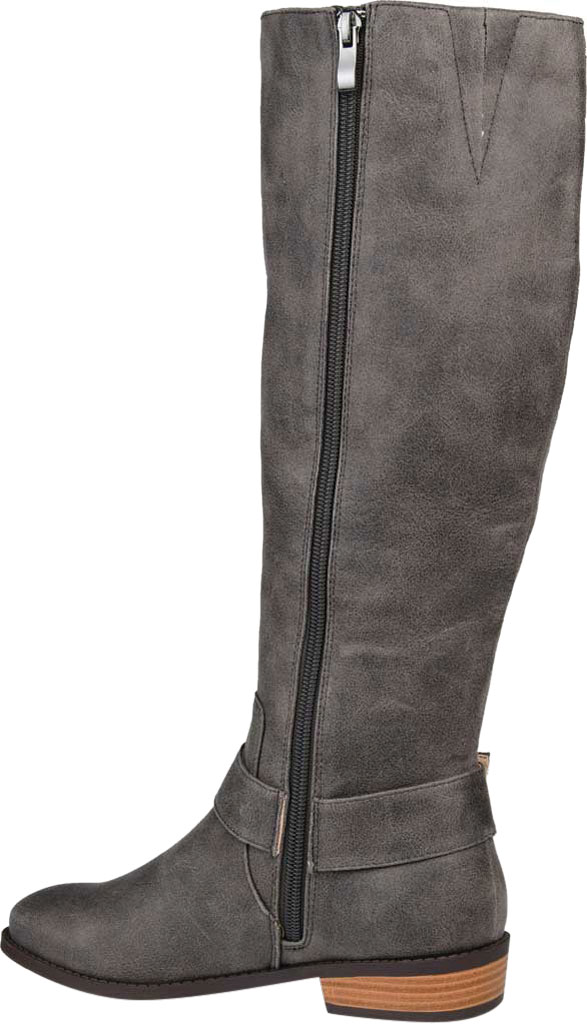 Women's Journee Collection Winona Wide Calf Knee High Boot, Grey Distressed Faux Suede, large, image 4