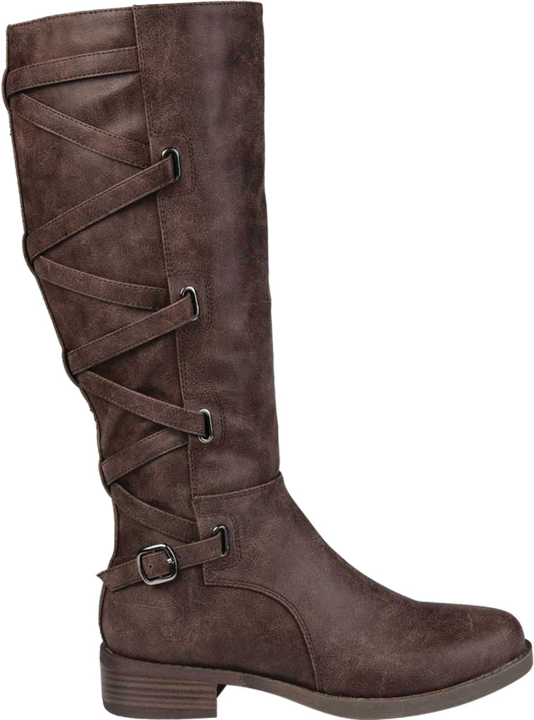 Women's Journee Collection Carly Wide Calf Knee High Boot, Brown Faux Leather, large, image 2