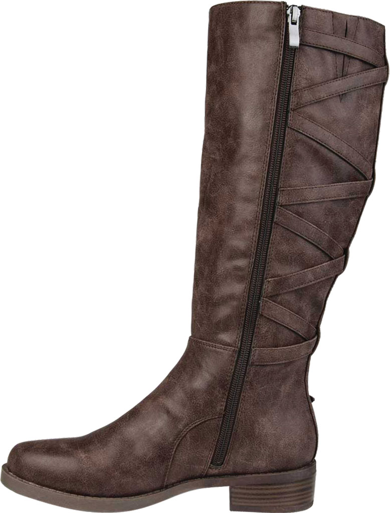 Women's Journee Collection Carly Wide Calf Knee High Boot, Brown Faux Leather, large, image 3