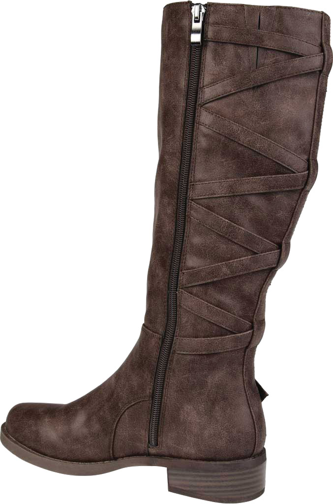 Women's Journee Collection Carly Wide Calf Knee High Boot, Brown Faux Leather, large, image 4