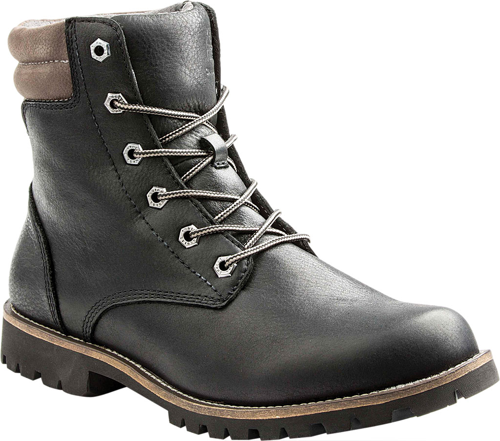 "Men's Kodiak Magog 6"" Work Boot, Black Leather, large, image 1"