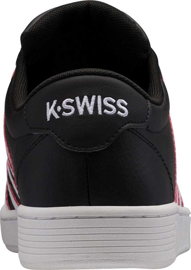 Men's K-Swiss Court Pro II Tennis Sneaker, Black/White/Red/Tape Leather, large, image 4