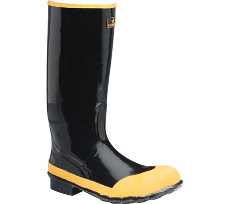 "Men's LaCrosse Industrial 16"" Economy Steel Toe Knee Boot, Black/Yellow, large, image 1"