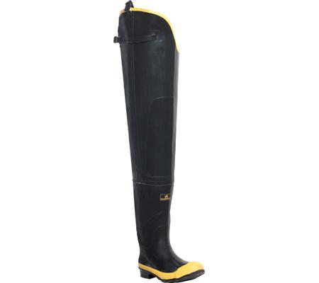 "Men's LaCrosse Industrial 32"" Economy Hip Boot ST, Black/Yellow, large, image 1"