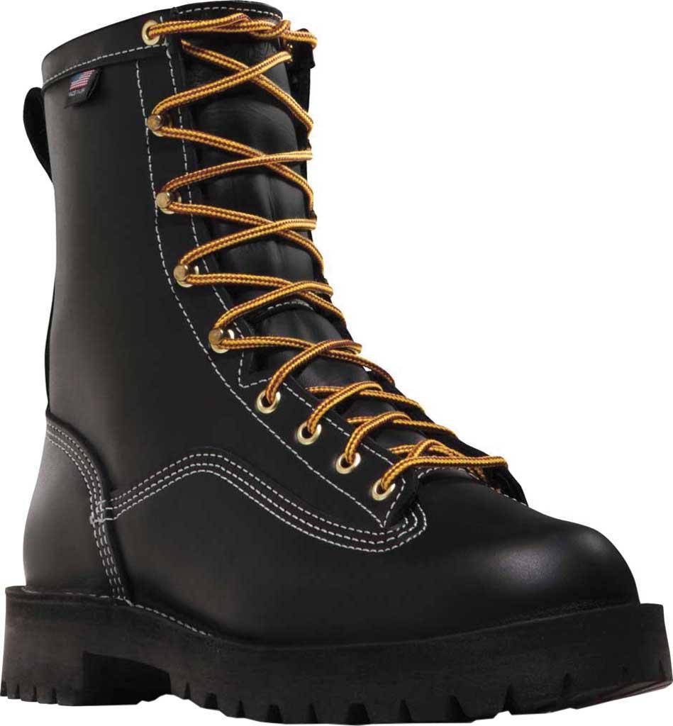 "Men's Danner Super Rain Forest Non Metallic Toe 8"" Boot, Black Leather, large, image 1"