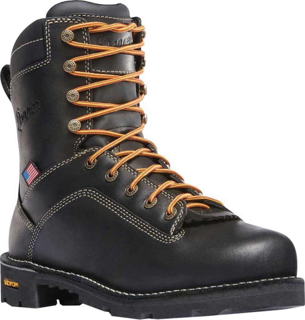 """Men's Danner Quarry USA 8"""" Alloy Toe, Black Full Grain Leather, large, image 1"""