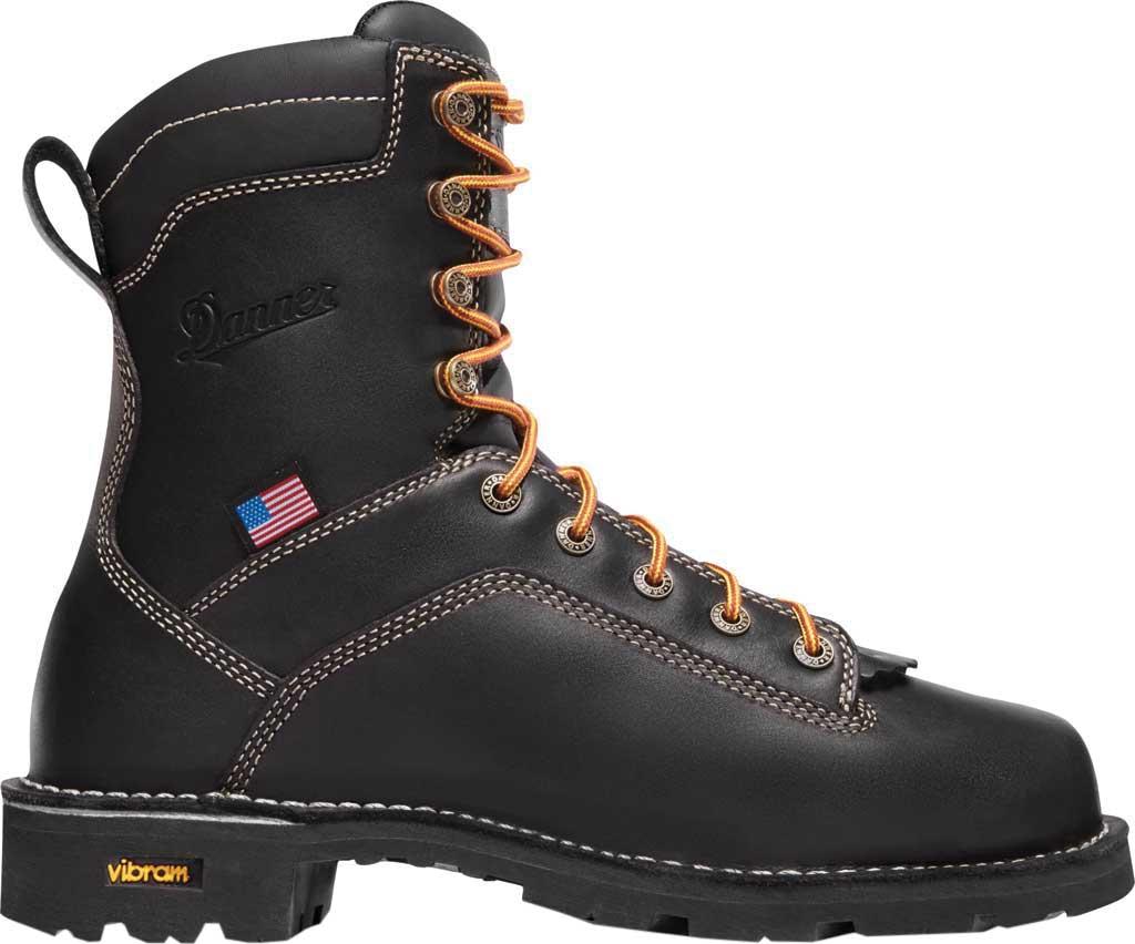 """Men's Danner Quarry USA 8"""" Alloy Toe, Black Full Grain Leather, large, image 2"""