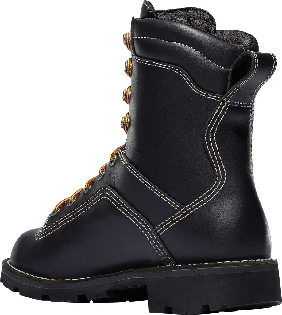 """Men's Danner Quarry USA 8"""" Alloy Toe, Black Full Grain Leather, large, image 4"""