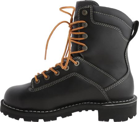 """Men's Danner Quarry USA 8"""" Alloy Toe, Black Full Grain Leather, large, image 3"""