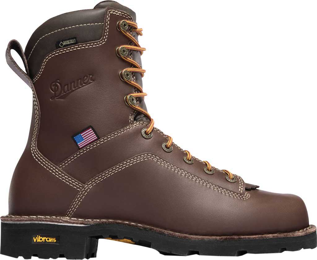 "Men's Danner Quarry USA 8"" Alloy Toe, Brown Full Grain Leather, large, image 2"