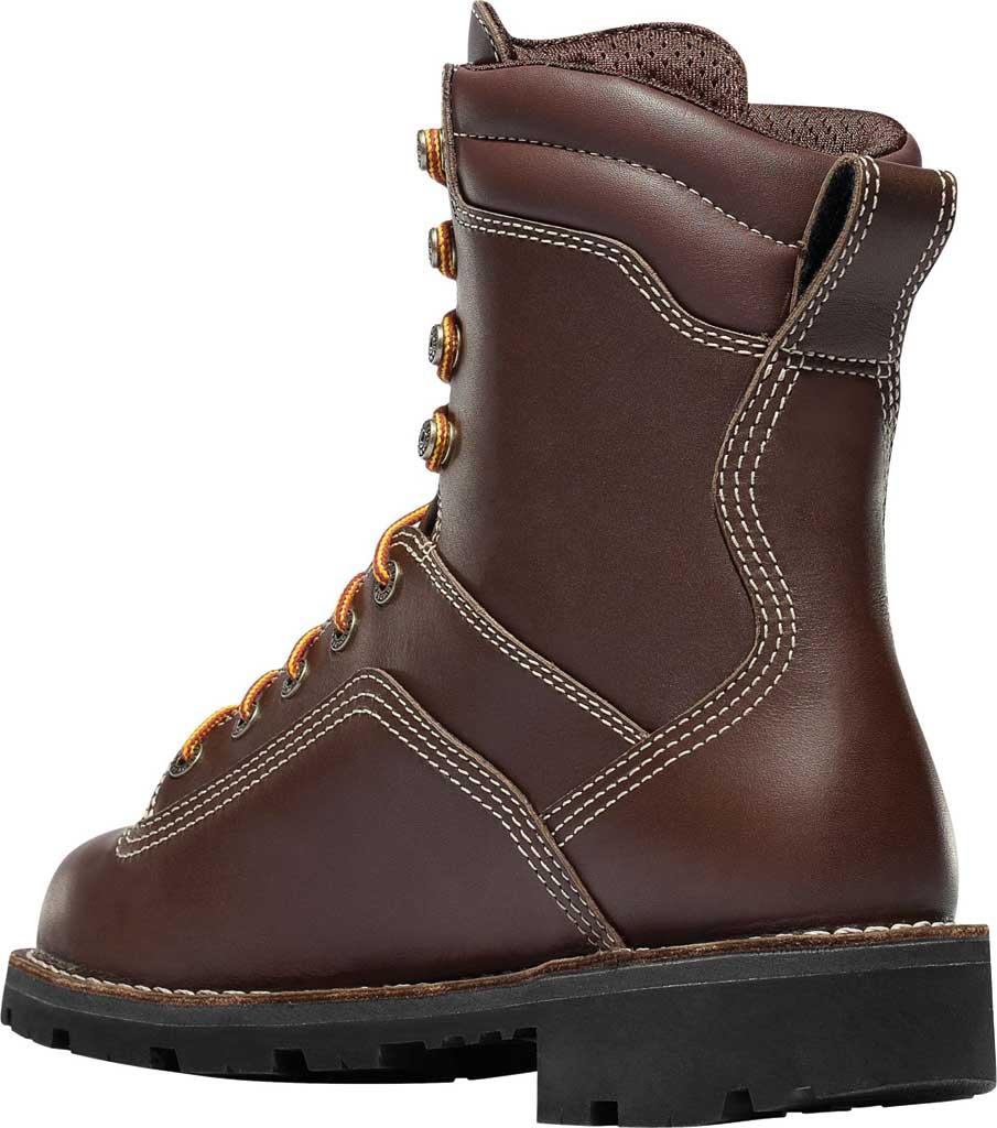 "Men's Danner Quarry USA 8"" Alloy Toe, Brown Full Grain Leather, large, image 3"