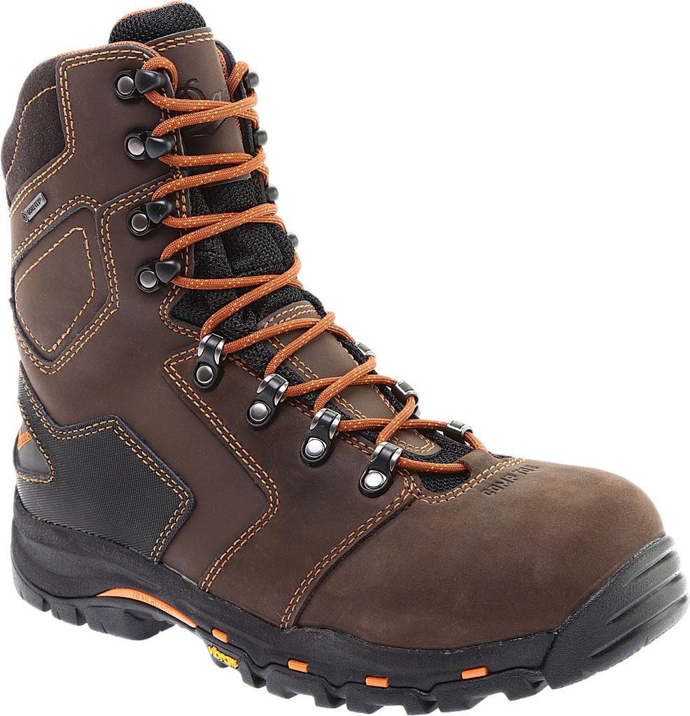 "Men's Danner Vicious 8"" Non Metallic Toe Boot, Brown Leather, large, image 1"
