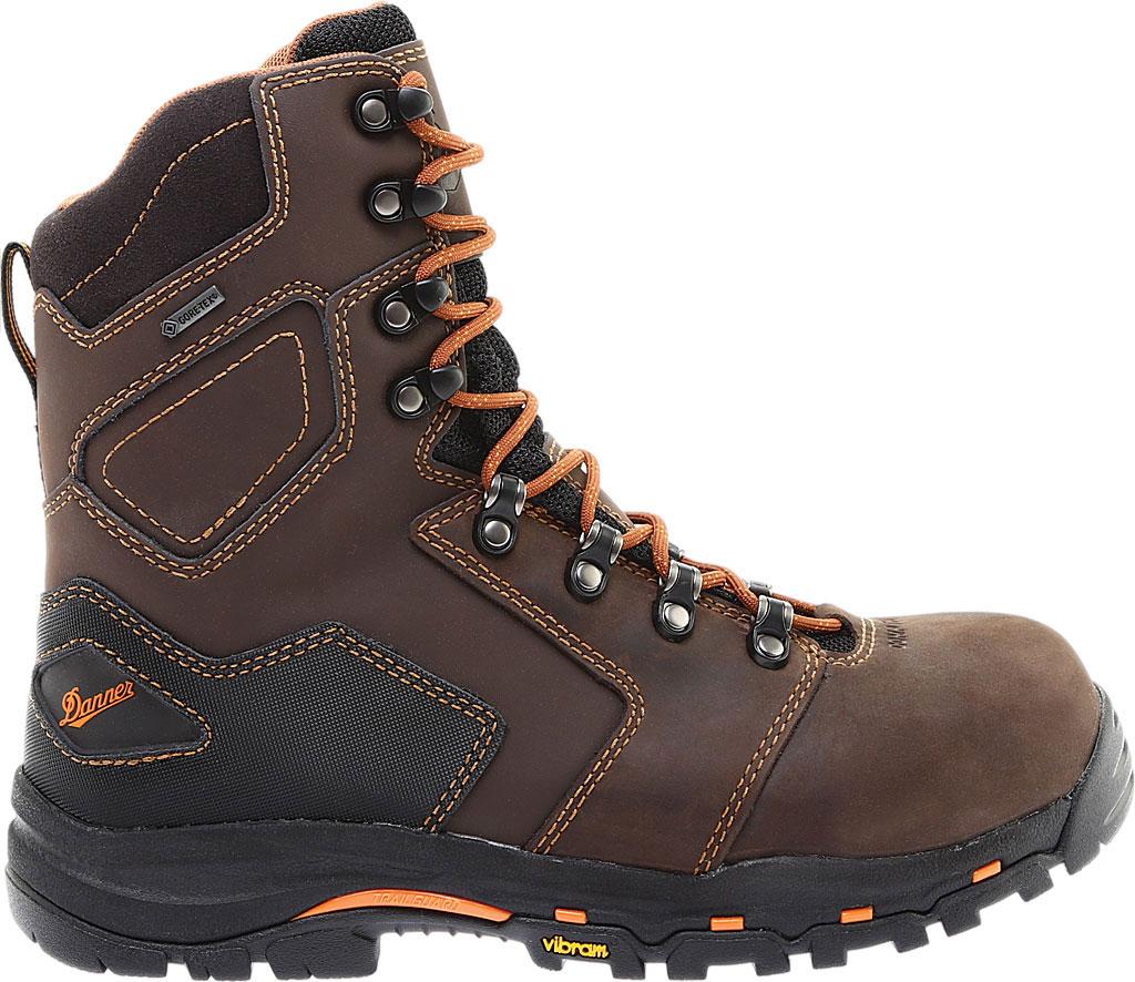 "Men's Danner Vicious 8"" Non Metallic Toe Boot, Brown Leather, large, image 2"