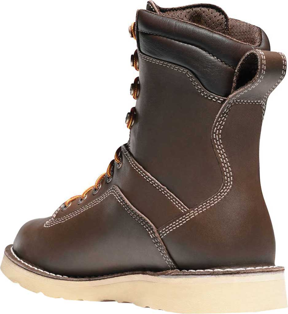 """Men's Danner Quarry USA 8"""" Alloy Toe Wedge, Brown Leather, large, image 2"""