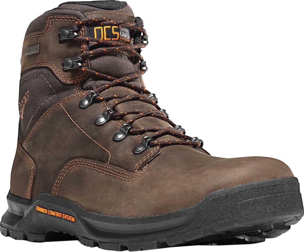 "Men's Danner Crafter 6"" Non Metallic Toe Boot, Brown Nubuck, large, image 1"