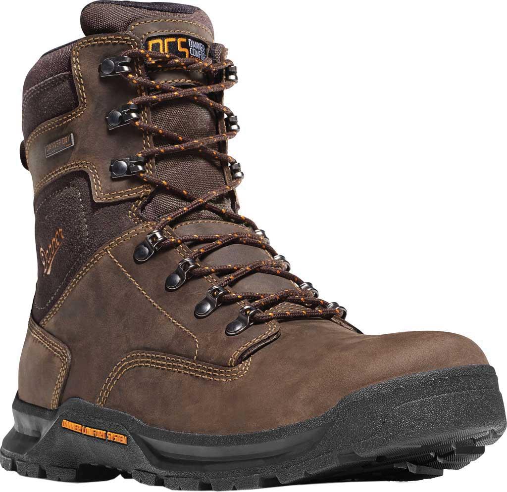 "Men's Danner Crafter 8"" Non Metallic Toe Boot, Brown Nubuck, large, image 1"