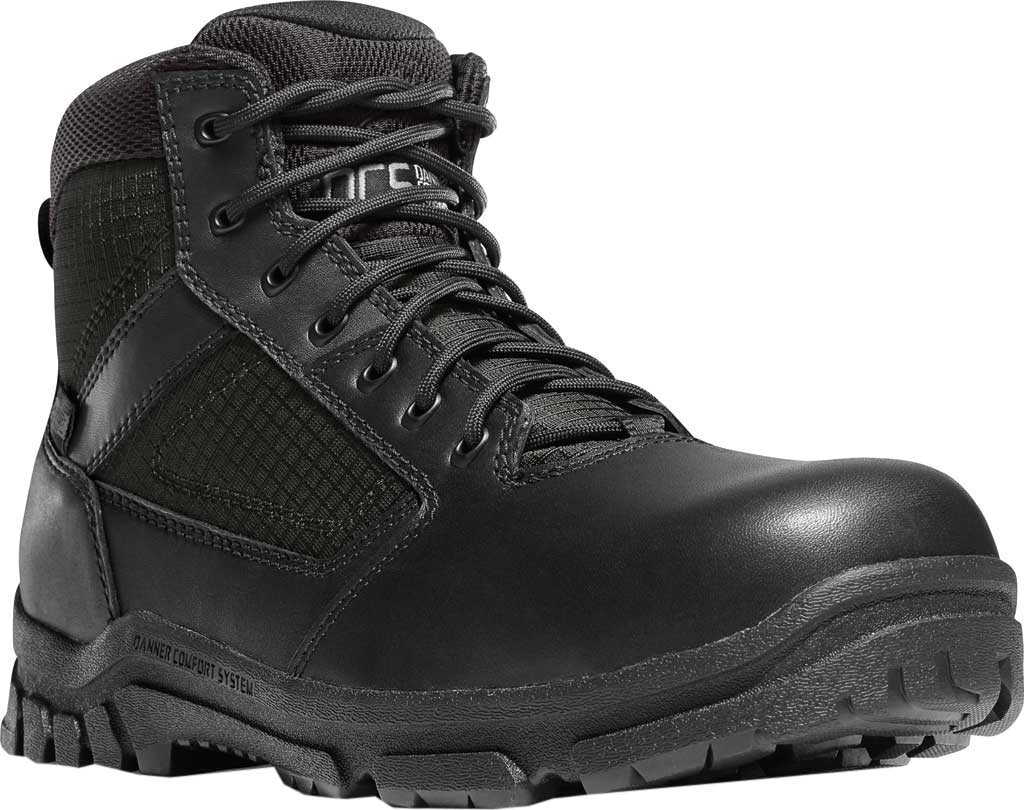 "Men's Danner Lookout Side-Zip NMT 5.5"" Work Boot, Black Leather, large, image 1"