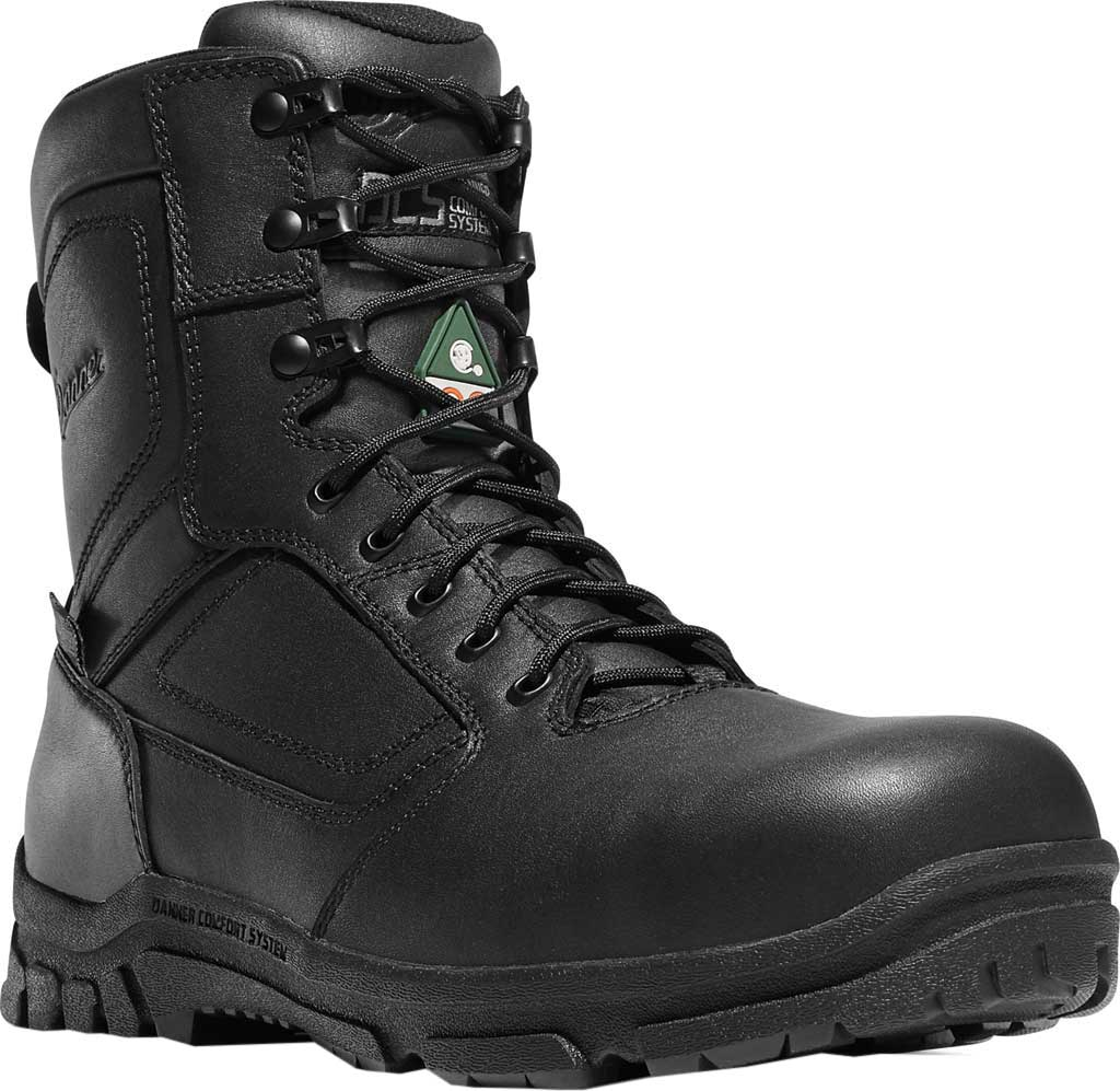 """Men's Danner Lookout EMS Side-Zip 8"""" NMT Work Boot, Black Leather/Ripstop Nylon, large, image 1"""