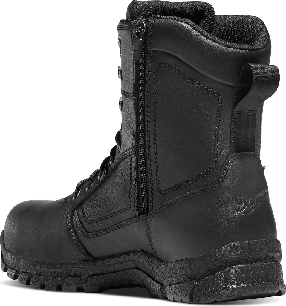 """Men's Danner Lookout EMS Side-Zip 8"""" NMT Work Boot, Black Leather/Ripstop Nylon, large, image 2"""
