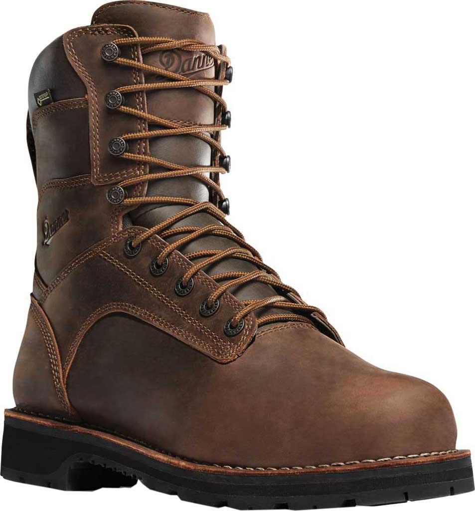 "Men's Danner Workman GORE-TEX 8"" Alloy Toe Boot, Brown Oiled Full Grain Leather, large, image 1"