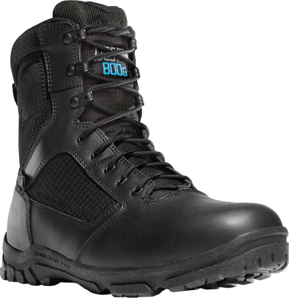 """Men's Danner Lookout 8"""" 800G Insulated Boot, Black Full Grain Leather, large, image 1"""