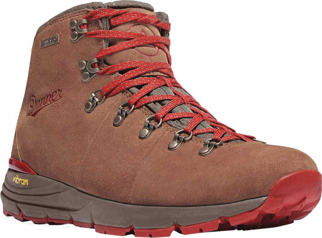 """Women's Danner Mountain 600 4.5"""" Hiking Boot, Brown/Red Suede, large, image 1"""