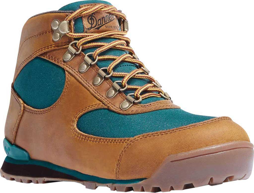 "Women's Danner Jag 4.5"" Hiking Boot, Distressed Brown Full Grain Leather/Deep Teal, large, image 1"