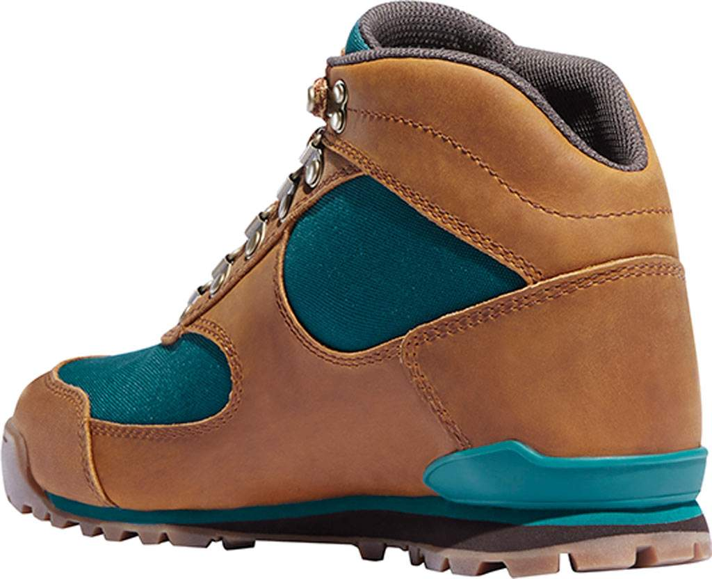 "Women's Danner Jag 4.5"" Hiking Boot, Distressed Brown Full Grain Leather/Deep Teal, large, image 2"