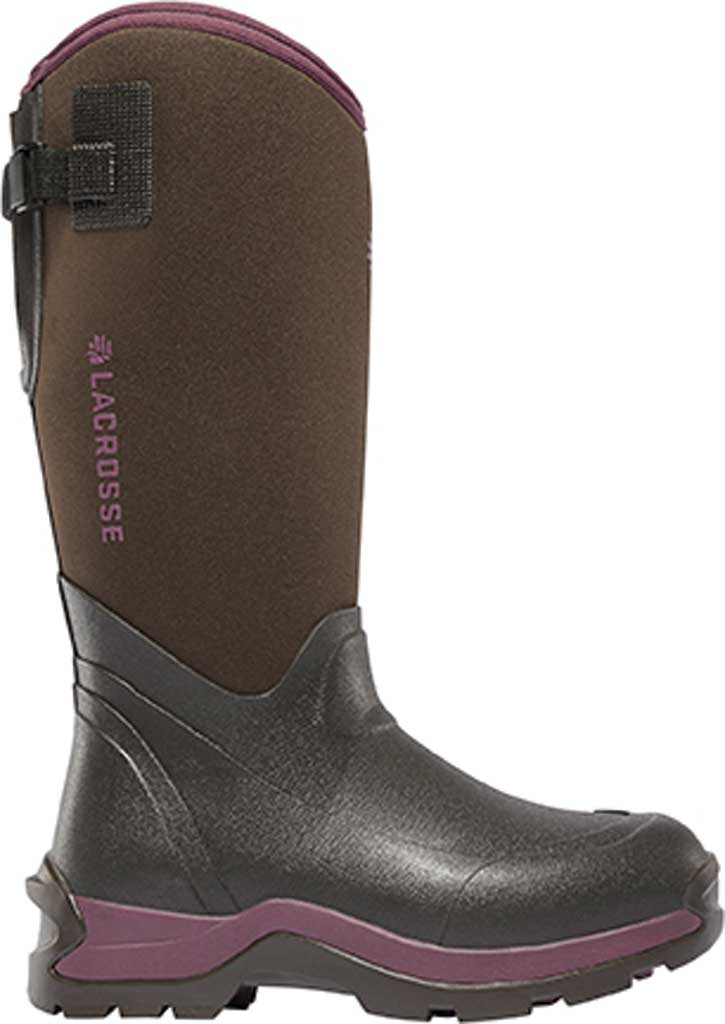 """Women's LaCrosse Alpha Thermal 14"""" 7mm Boot, Chocolate/Plum Rubber/Neoprene, large, image 1"""