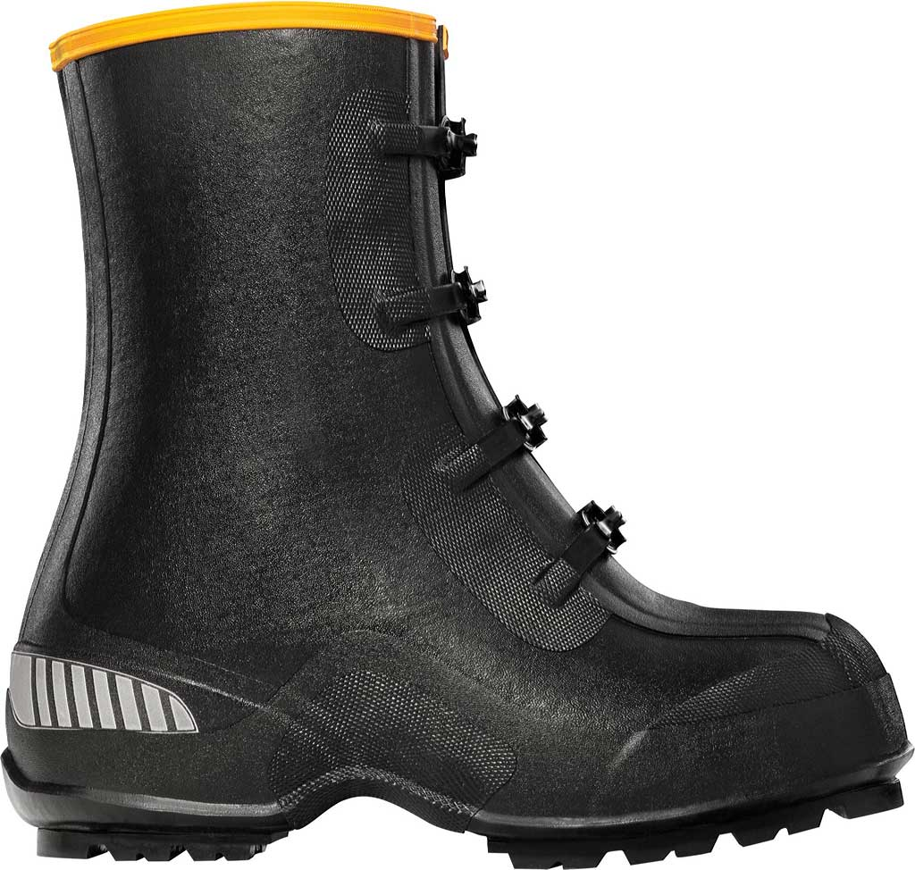 "Men's LaCrosse 12"" ATS Studded Overshoe Work Boot, Black, large, image 1"