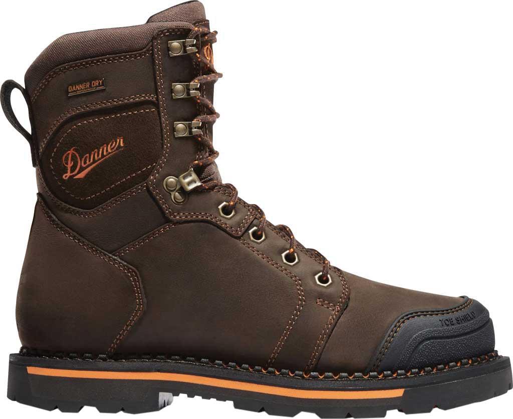 "Men's Danner Trakwelt 8"" Work Boot, Brown Full Grain Leather, large, image 2"