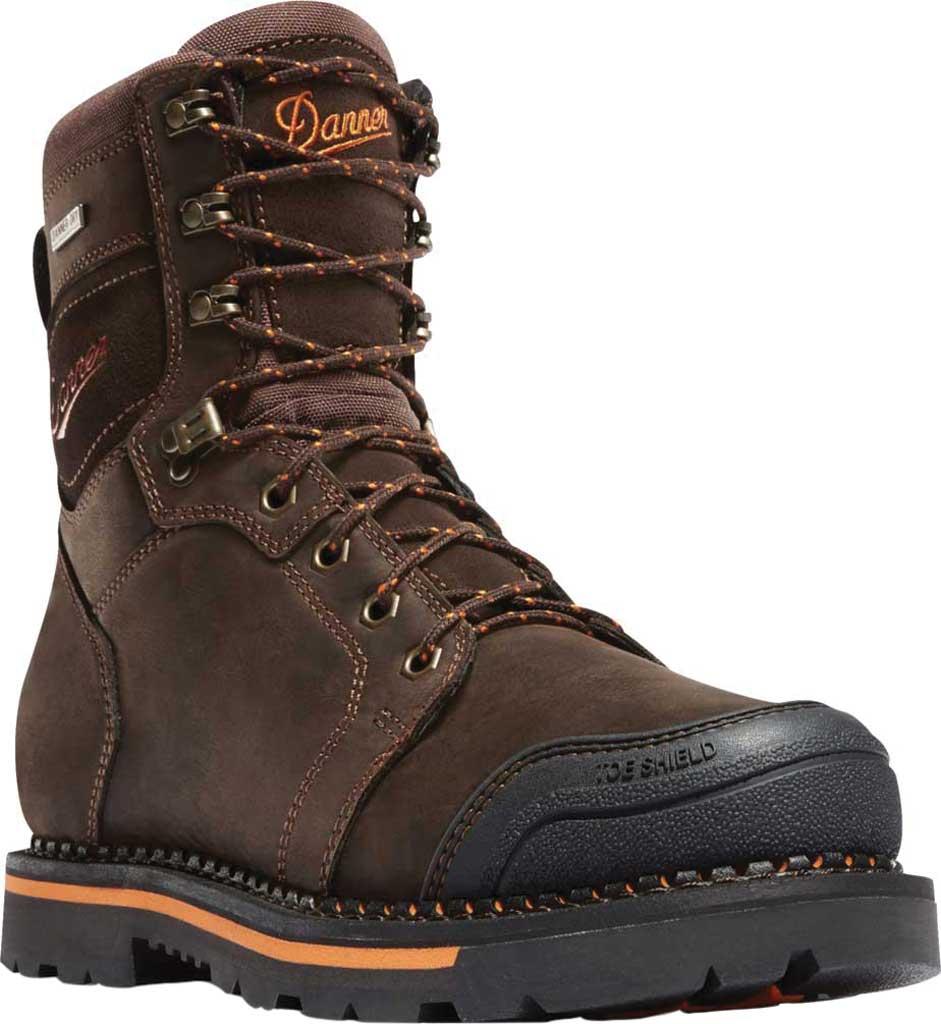 "Men's Danner Trakwelt 8"" Non Metallic Toe Work Boot, Brown Full Grain Leather, large, image 1"