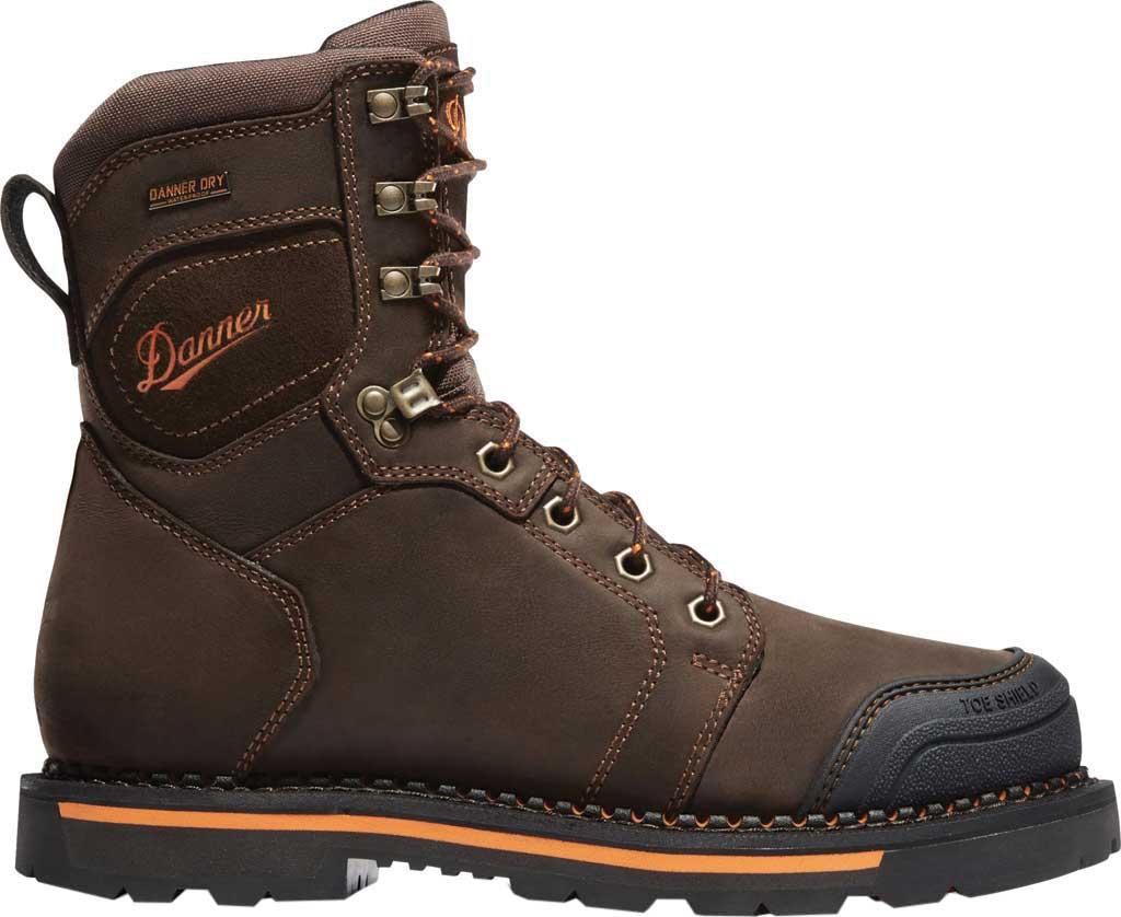 "Men's Danner Trakwelt 8"" Non Metallic Toe Work Boot, Brown Full Grain Leather, large, image 2"