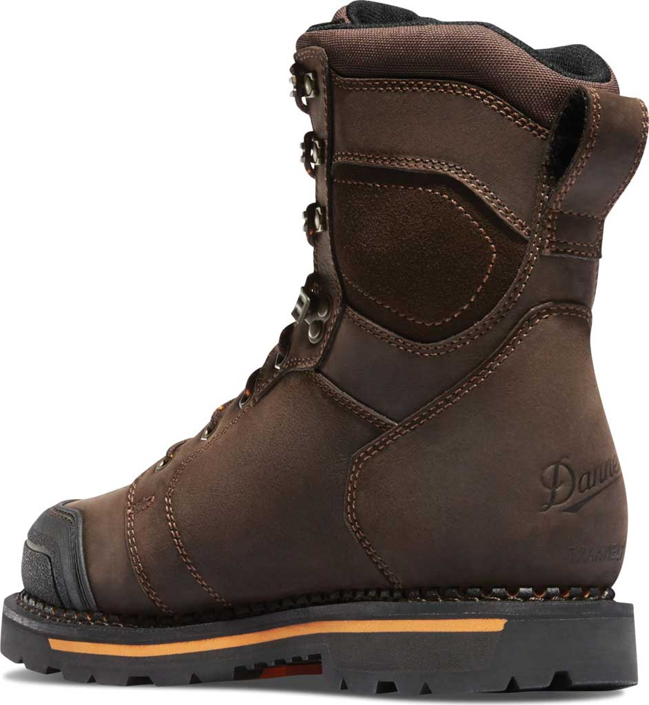 "Men's Danner Trakwelt 8"" Non Metallic Toe Work Boot, Brown Full Grain Leather, large, image 3"