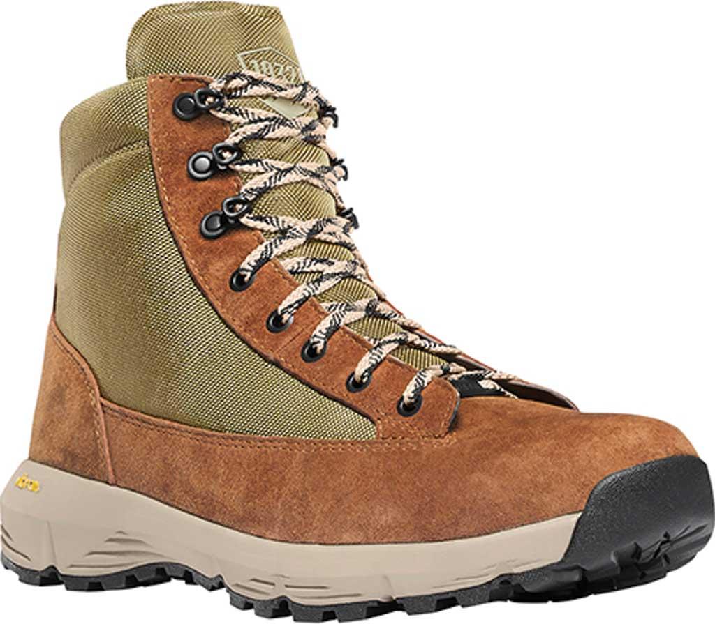 """Men's Danner Explorer 650 6"""" Hiking Boot, Brown/Olive Suede/Nylon, large, image 1"""