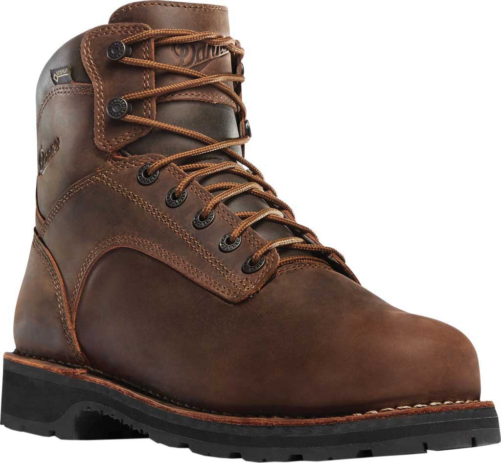 """Men's Danner Workman 6"""" Alloy Toe Work Boot, Brown Oiled Leather/Full Grain Leather, large, image 1"""