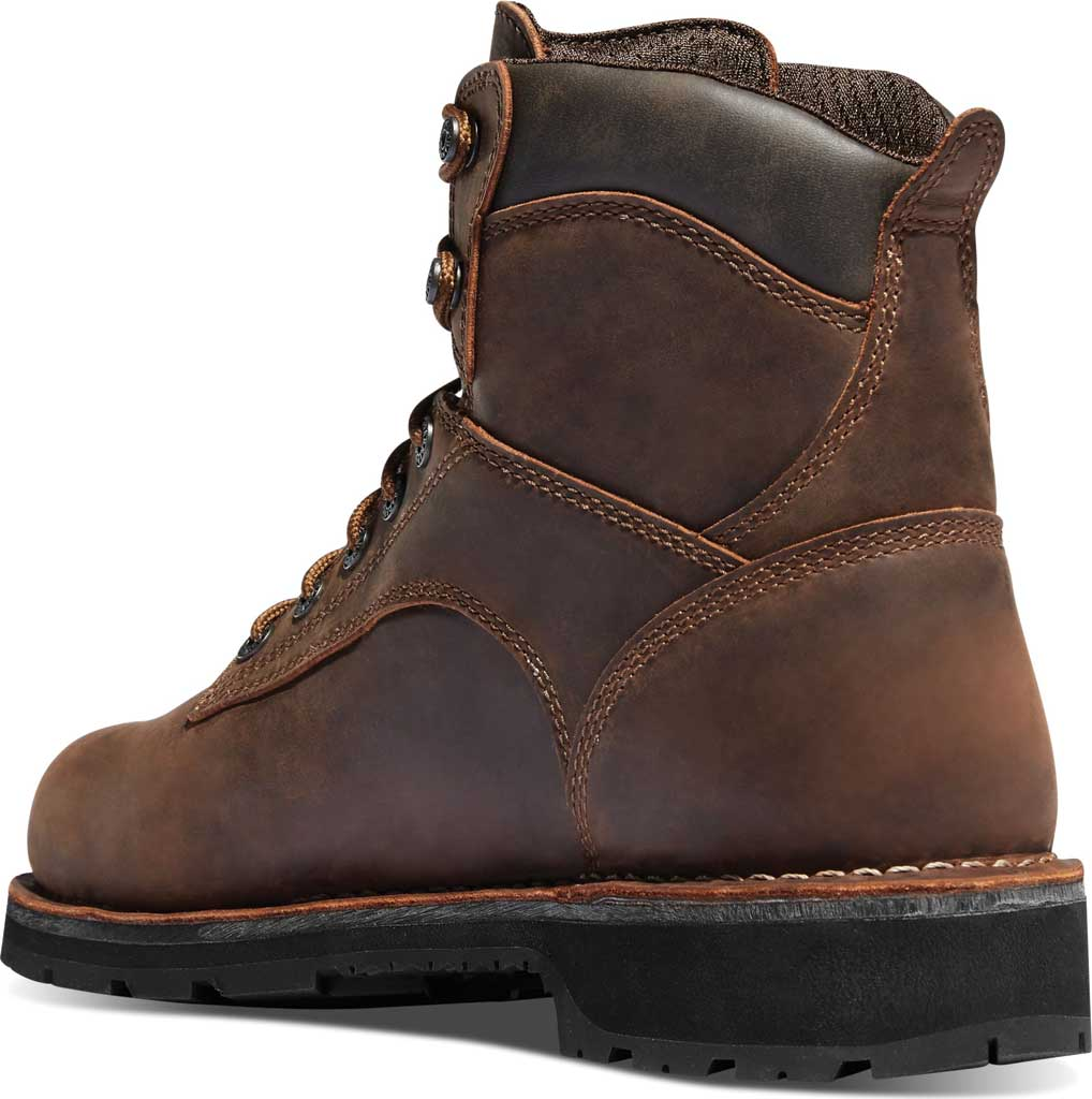 """Men's Danner Workman 6"""" Alloy Toe Work Boot, Brown Oiled Leather/Full Grain Leather, large, image 2"""