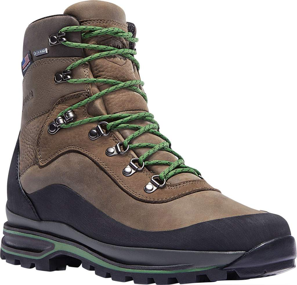 """Men's Danner Crag Rat USA 6"""" WP GORE-TEX Hiking Boot, Brown/Green Nubuck, large, image 1"""