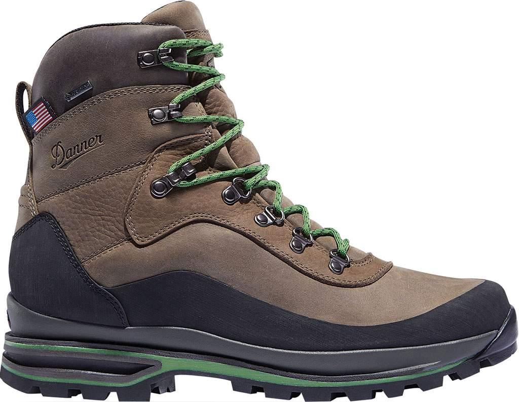 """Men's Danner Crag Rat USA 6"""" WP GORE-TEX Hiking Boot, Brown/Green Nubuck, large, image 2"""