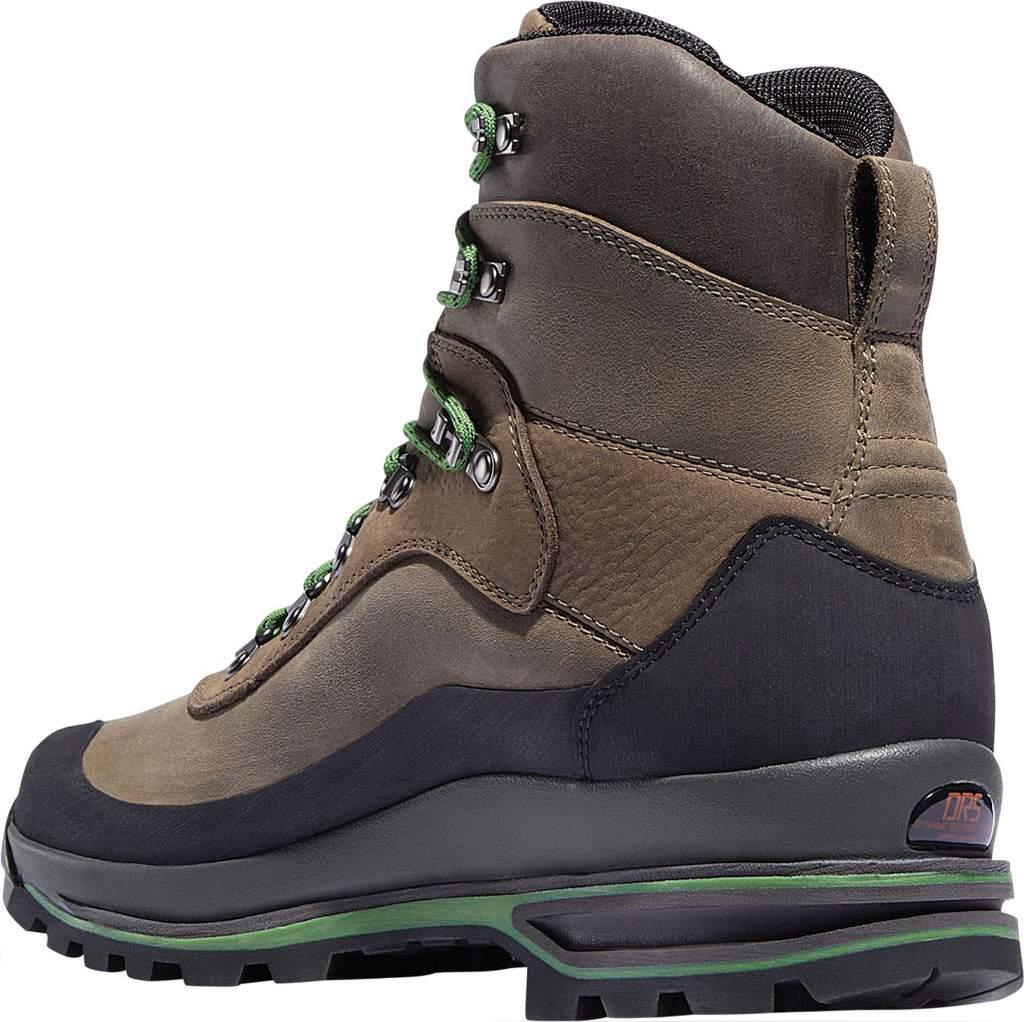 """Men's Danner Crag Rat USA 6"""" WP GORE-TEX Hiking Boot, Brown/Green Nubuck, large, image 3"""