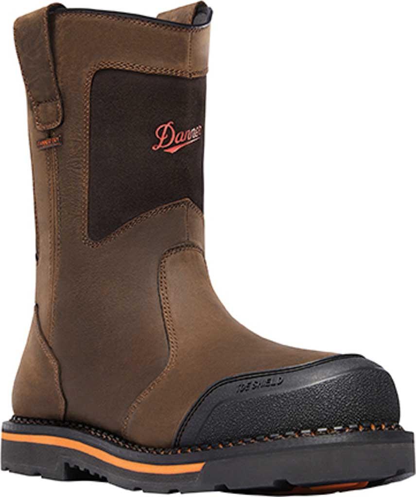 "Men's Danner Trakwelt Wellington 11"" Work Boot, Brown Full Grain Leather, large, image 1"