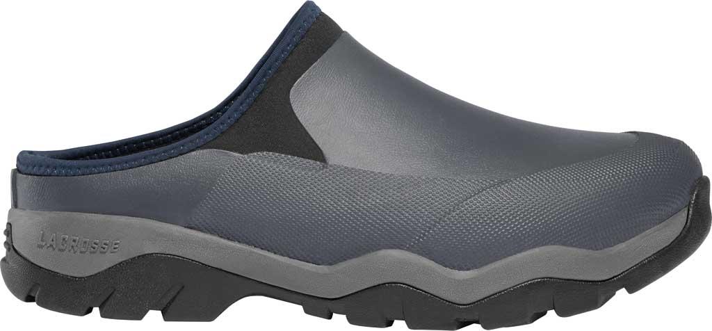 Men's LaCrosse Alpha Muddy Mule, Grey Rubber/Neoprene, large, image 1