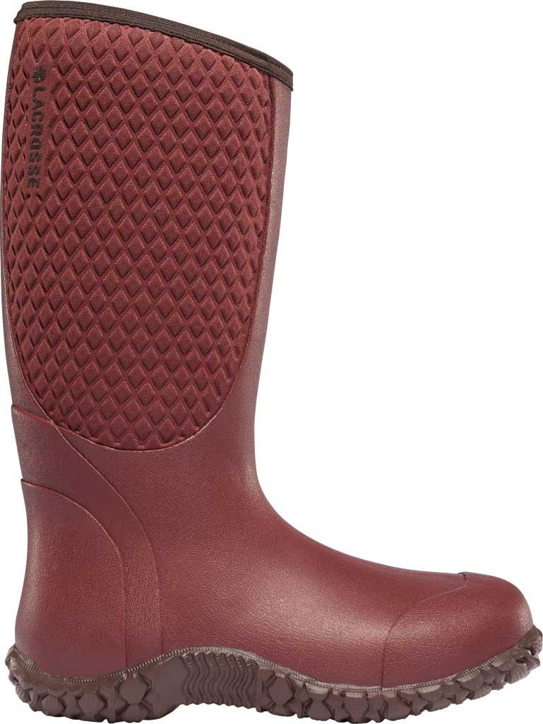 "Women's LaCrosse Alpha Lite 14"" Rain Boot, Brick Red Rubber/Neoprene, large, image 1"
