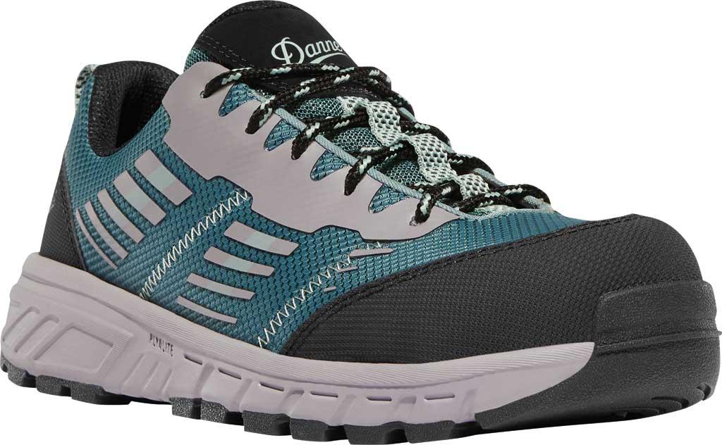 "Women's Danner Run Time 3"" Non-Metallic Toe Work Boot, Teal Textile, large, image 1"