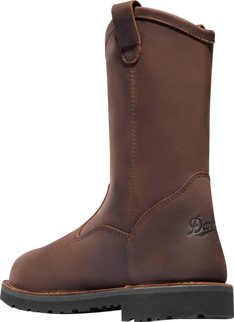 """Men's Danner Bull Run 11"""" Round Still Toe Wellington Boot, Brown Full Grain Leather, large, image 3"""