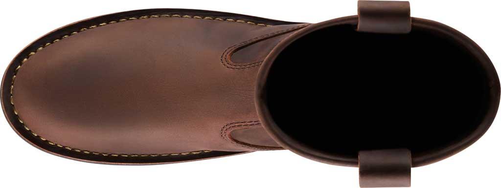 """Men's Danner Bull Run 11"""" Round Still Toe Wellington Boot, Brown Full Grain Leather, large, image 4"""