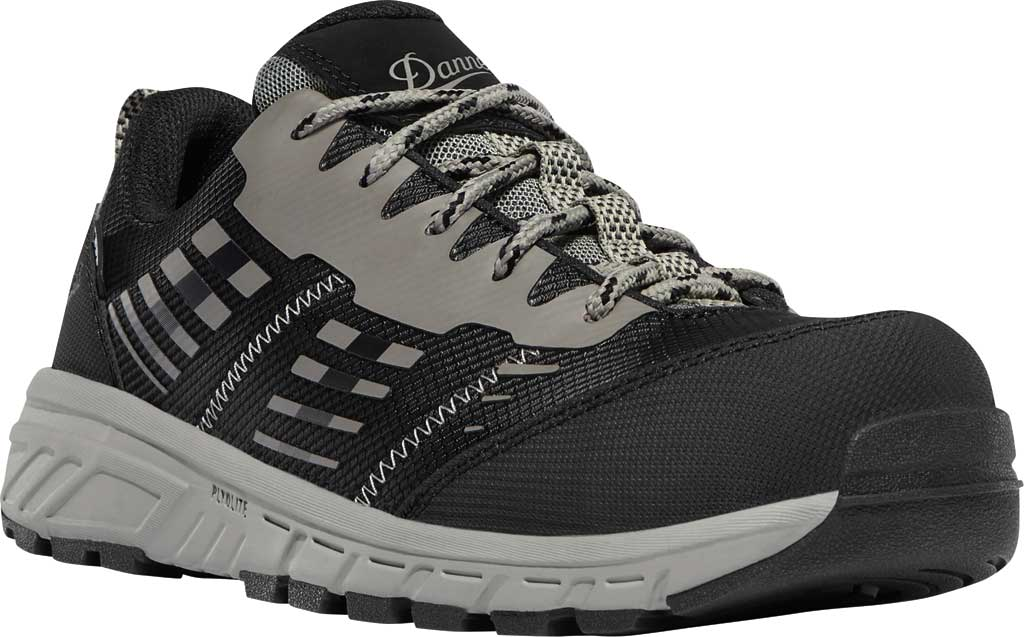 "Women's Danner Run Time 3"" ESD Non-Metallic Toe Work Boot, Black Textile, large, image 1"